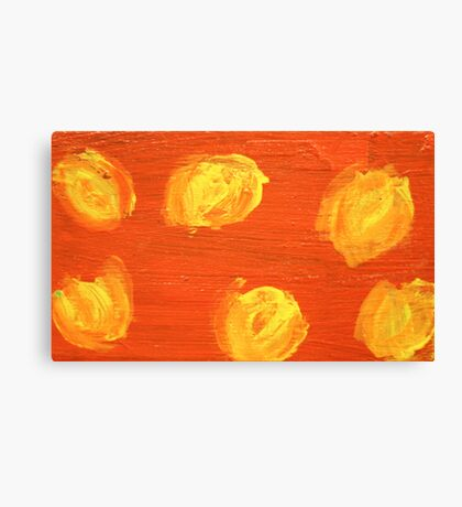 Impression Yellow Blossoms Canvas Print