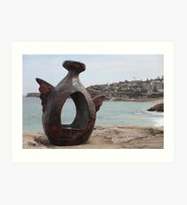 Sculptures by the sea Art Print