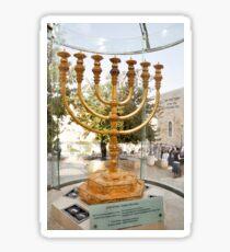 Israel, Jerusalem, Old City, Replica of the Temple Menorah Sticker