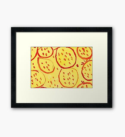 Impression Pomegranate Framed Print