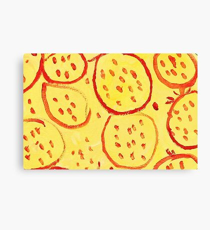 Impression Pomegranate Canvas Print