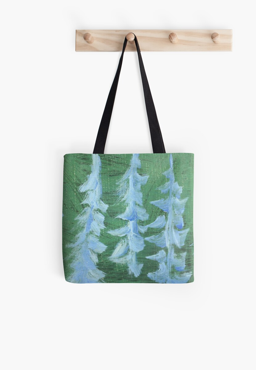 Impression Snowy PIne Trees by Thomas Murphy