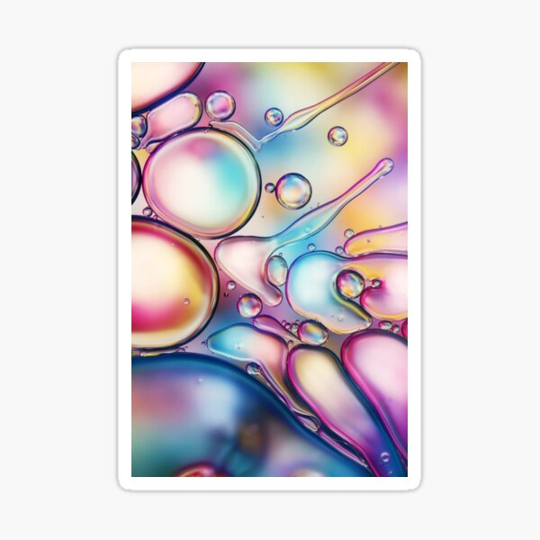Rainbow Bubble Splash Pegatina