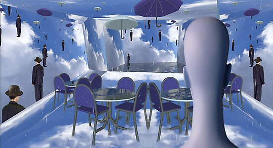 Dining with Magritte after death  by Lawrence Alfred Powell