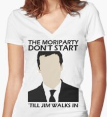 MoriPARTY Women's Fitted V-Neck T-Shirt