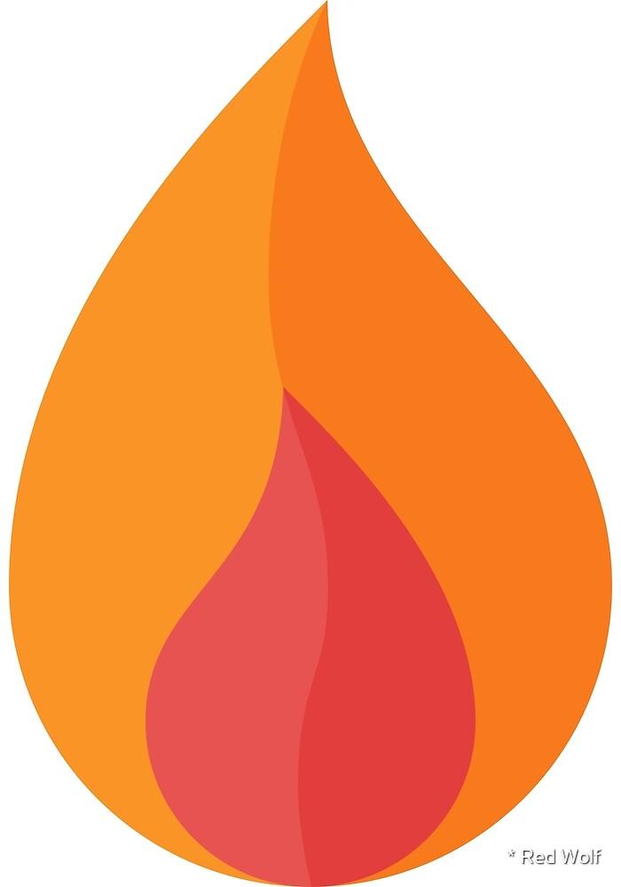Geometric Pattern: Flame: Light Orange by * Red Wolf