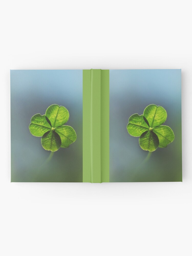 Alternate view of Lucky Charm Four Leaf Clover. Irish Lucky Shamrock Hardcover Journal