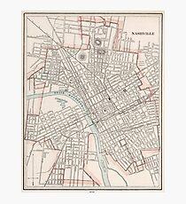 Nashville Tn Map Wall Art   Redbubble