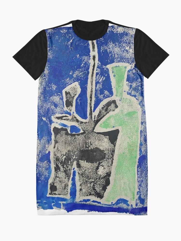 Alternate view of Green Bottle Black Plant Graphic T-Shirt Dress