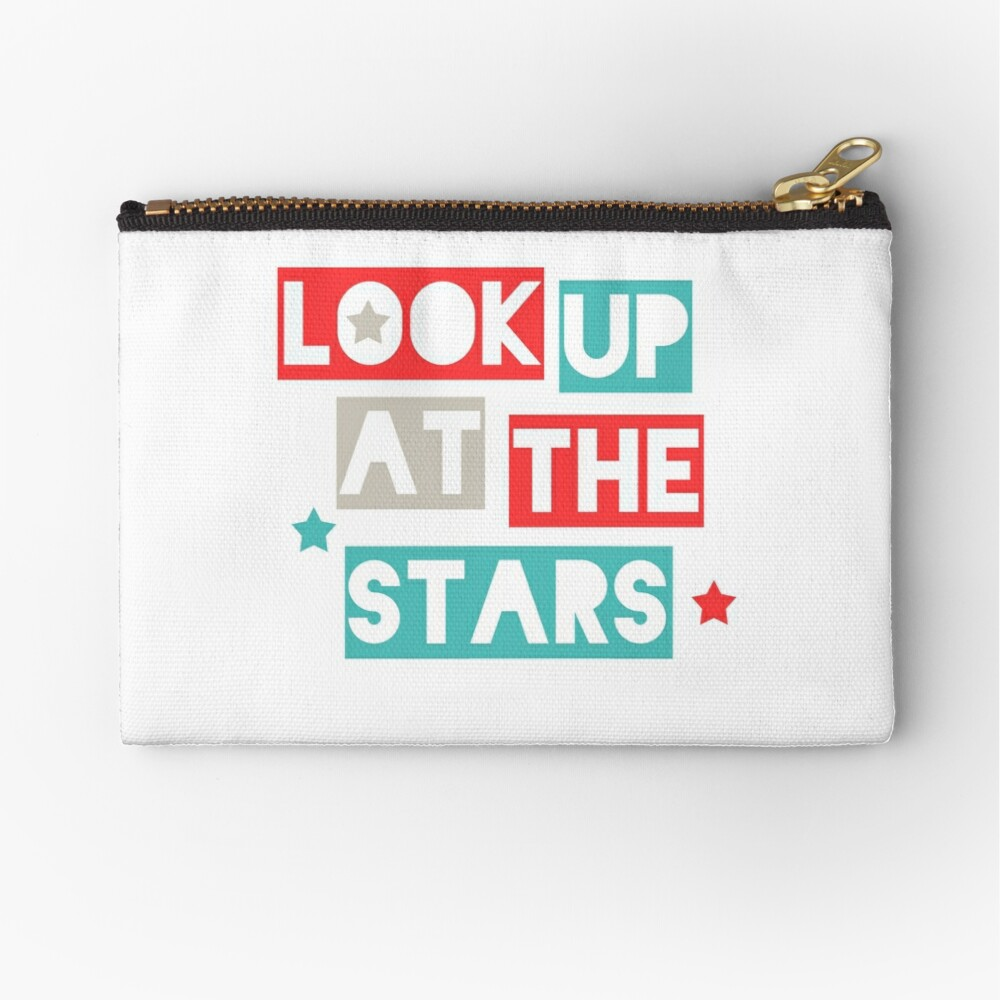 Look Up At The Stars Zipper Pouch