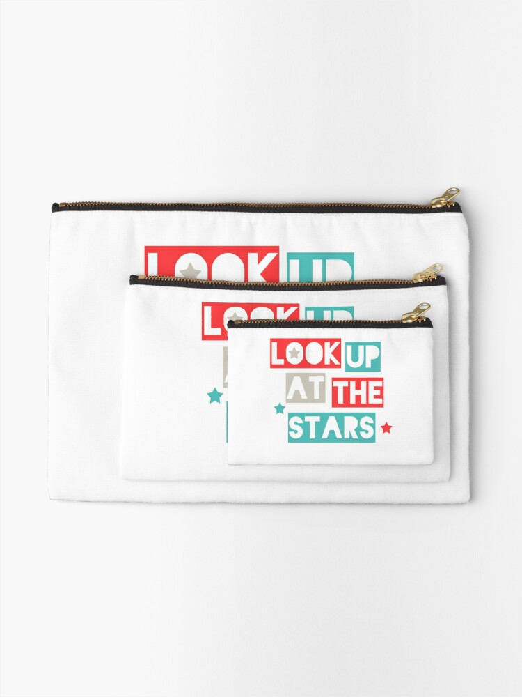 Alternate view of Look Up At The Stars Zipper Pouch