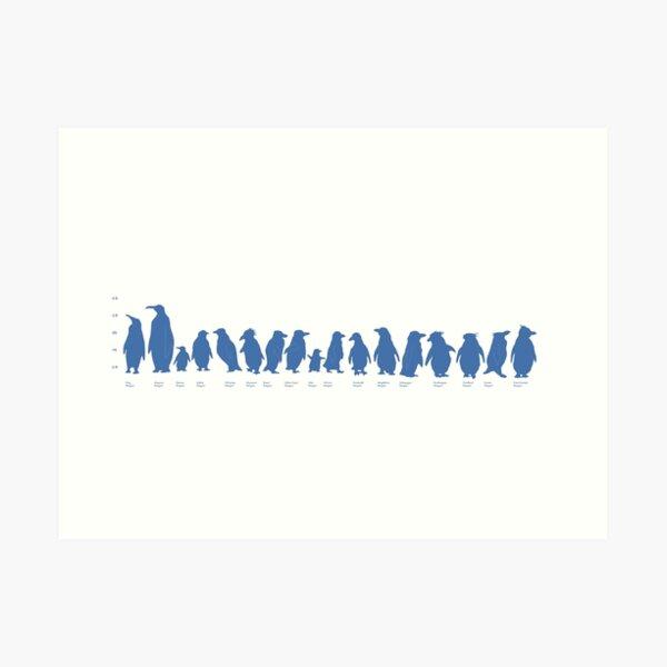Penguin Line-up Art Print