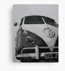 Split Screen VW Camper Canvas Print