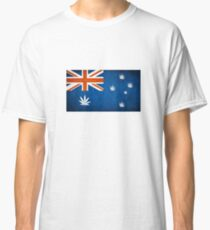 Australian Cannabis Leaf Flag Classic T-Shirt