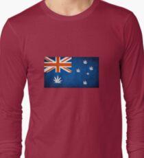 Australian Cannabis Leaf Flag Long Sleeve T-Shirt
