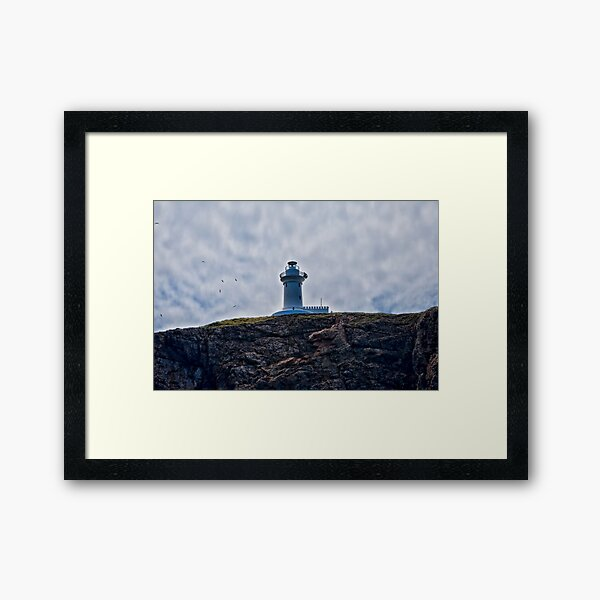 """"""" Lighthouses are lonely figures"""" (Tianne Albrow 2012) Framed Art Print"""