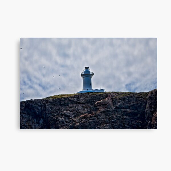 """"""" Lighthouses are lonely figures"""" (Tianne Albrow 2012) Canvas Print"""