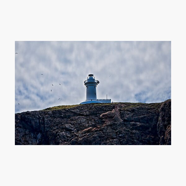 """"""" Lighthouses are lonely figures"""" (Tianne Albrow 2012) Photographic Print"""