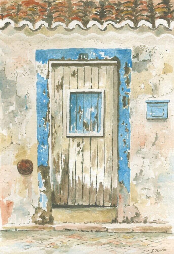 Old door, Luz, Portugal by ian osborne