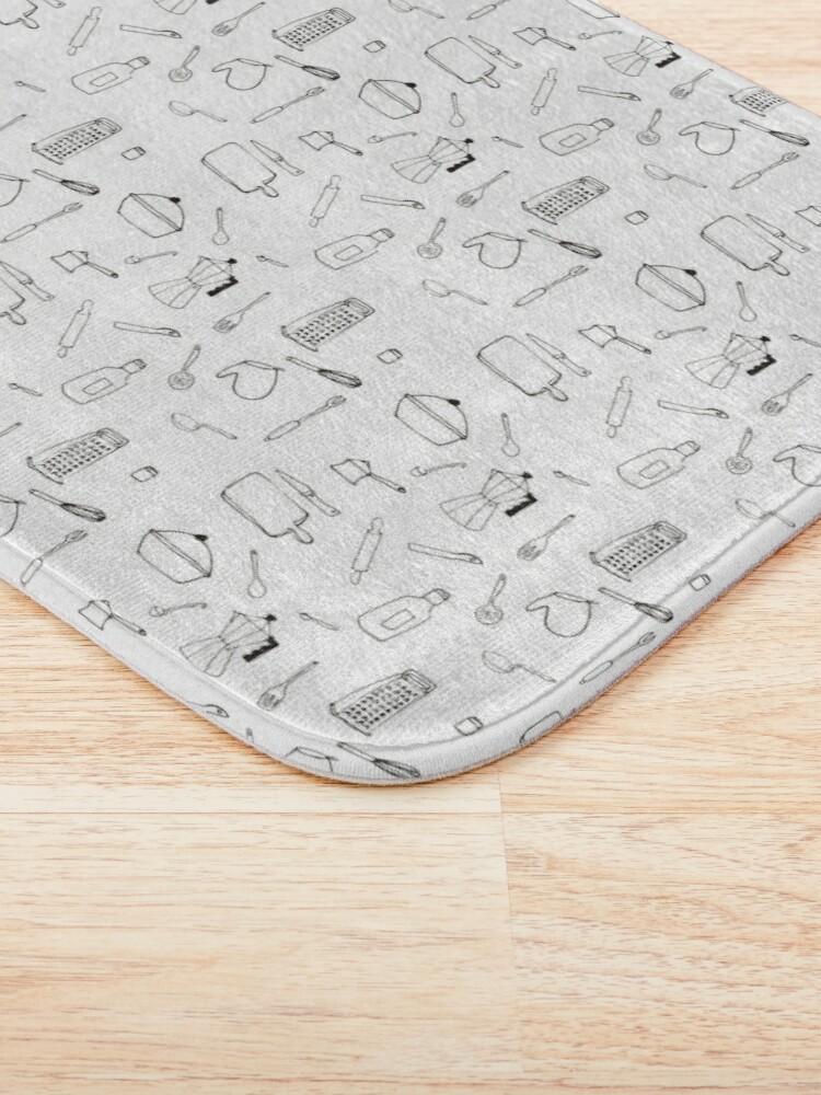Vista alternativa de Alfombra de baño Elementos de cocina - Pattern
