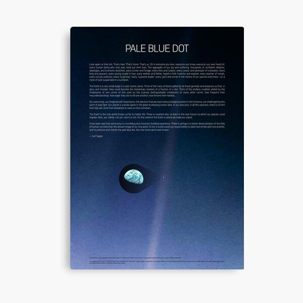 Pale Blue Dot — Voyager 1 ⛔ 2020 revision Canvas Print