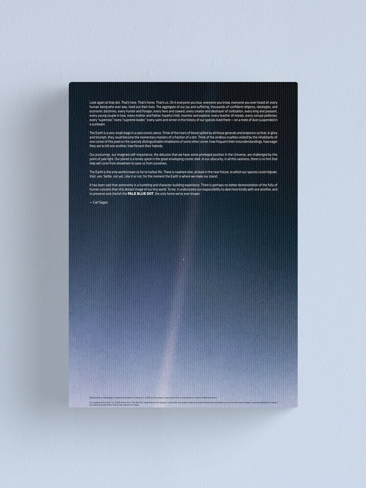 Alternate view of Pale Blue Dot — Voyager 1 ⛔ 2020 revision Canvas Print
