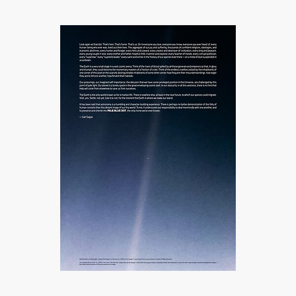 Pale Blue Dot — Voyager 1 ⛔ 2020 revision Photographic Print
