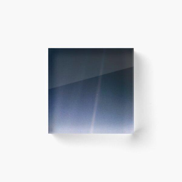 Pale Blue Dot — Voyager 1 ⛔ 2020 revision Acrylic Block