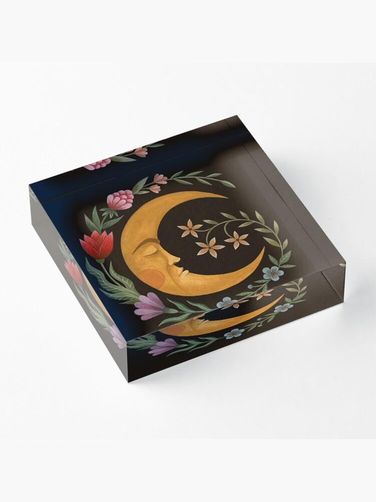 Alternate view of Midsummer Moon Acrylic Block