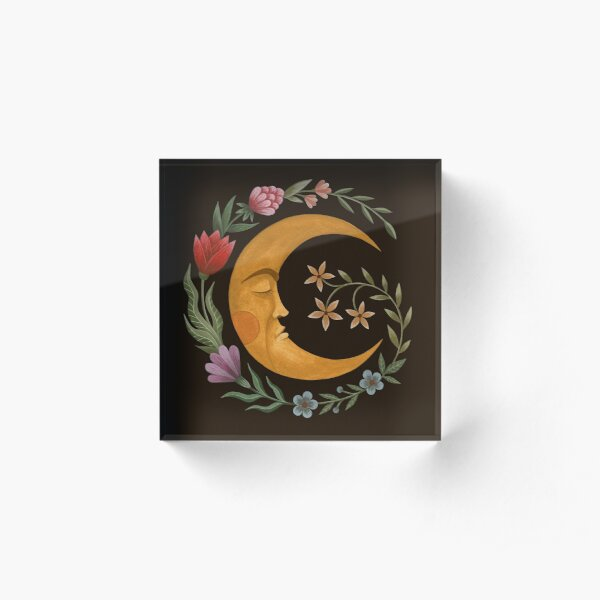 Midsummer Moon Acrylic Block