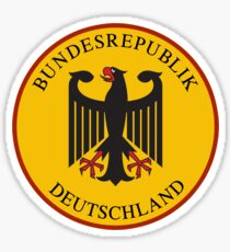 Bundesrepublik Deutschland, Cold War Sign, Germany Sticker