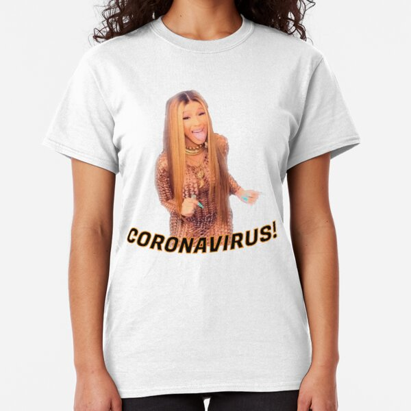 mask Corona Virus Cardi B Classic T-Shirt