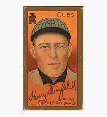 Benjamin K Edwards Collection Harry Steinfeldt Chicago Cubs baseball card portrait 002 Photographic Print