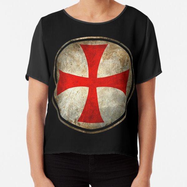 Knights Templar Chiffon Top
