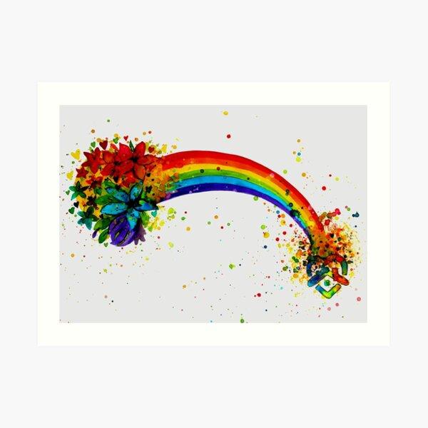 Stay at Home Rainbow Art Print