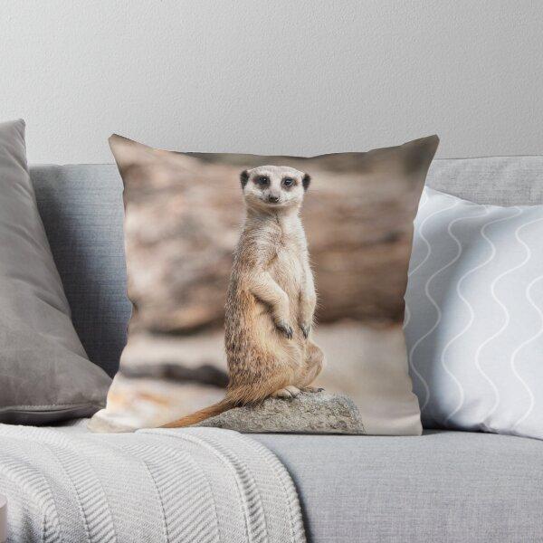 Meerkat Photography  Throw Pillow