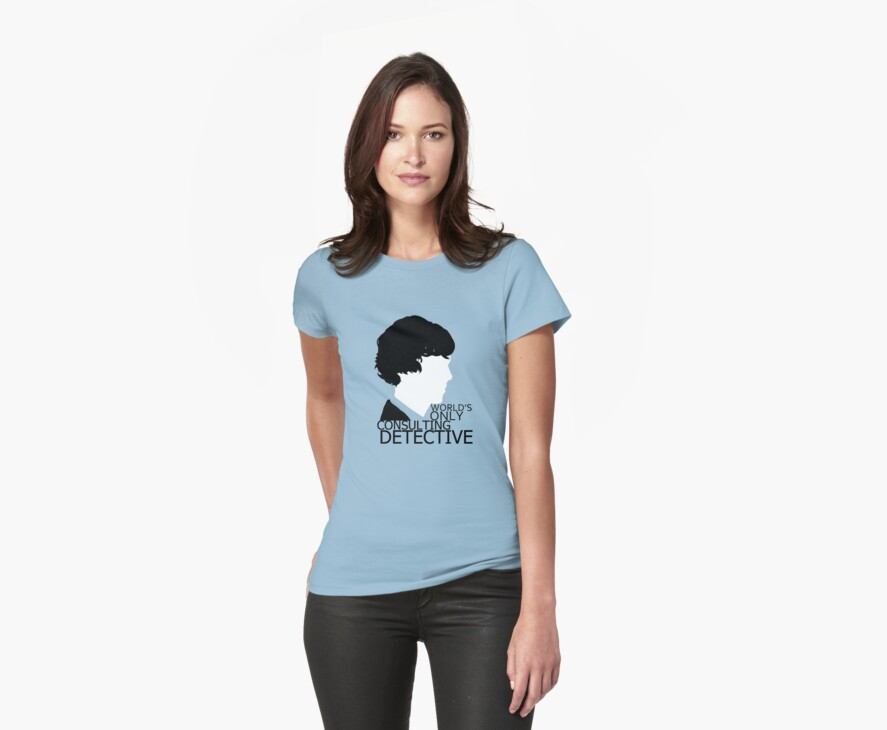 World's Only Consulting Detective V2 (for light coloured tops) by drawingdream