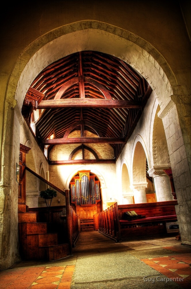 Through St Nicholas, Compton by Guy Carpenter