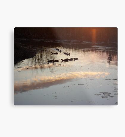 MAKE A SHARP RIGHT, HERE!  WE'RE GOING HOME. Metal Print