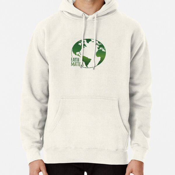 Earth Day Mens Front Pouch Pocket Pullover Hoodie Sweatshirt Long Sleeves Pullover Tops White