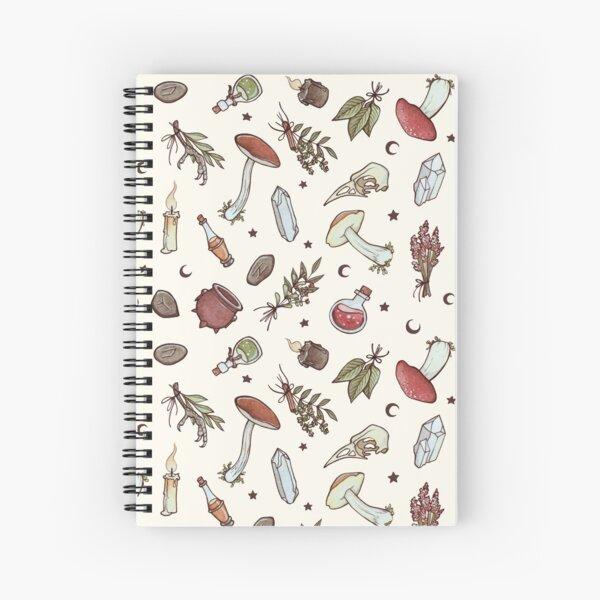 Witchy Pattern Light Spiral Notebook