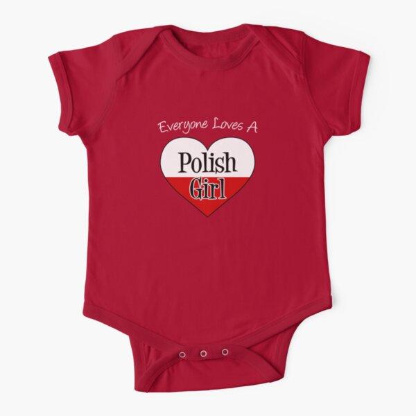 Baby Boy Girl Bodysuits Poland Flag Heart Love Baby Clothes