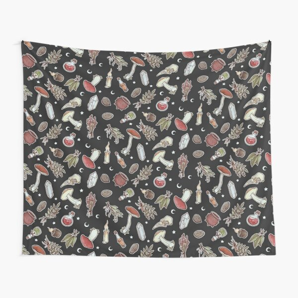 Witchy Pattern Dark Tapestry
