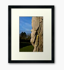 Faces in the Stones 3 Framed Print