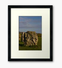 Faces in the Stones 4 Framed Print
