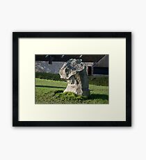Faces in the Stones 7 Framed Print