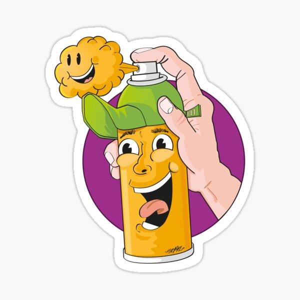 Happy Spray Can Sticker
