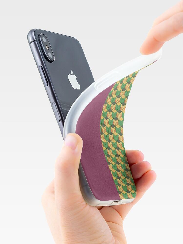 Alternate view of Giyuu Haori Pattern iPhone Case & Cover
