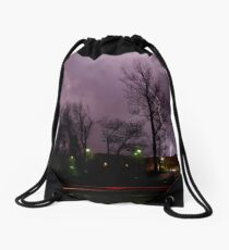 Lightning time lapse Drawstring Bag