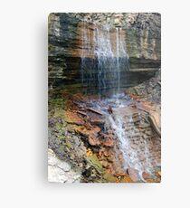 Waterfalls over Rocks Metal Print